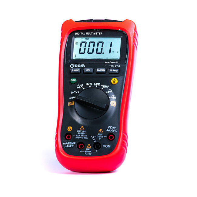 TIS 280 Auto Ranging Multimeter with Temperature